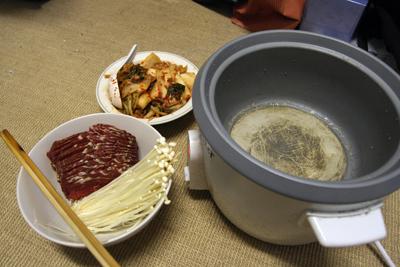 Homemade Kimchi Hotpot